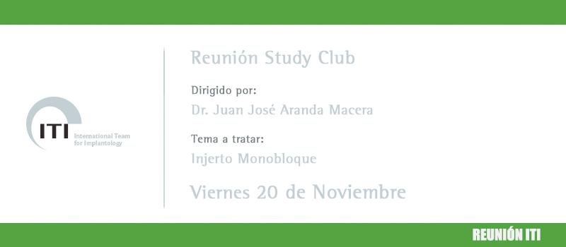 Nuevo curso del Study Club de ITI con el Dr Juan José Aranda Macera